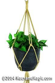 Simple Macrame Plant Hanger - macrame plant hangers simplicity hanging plant hangers