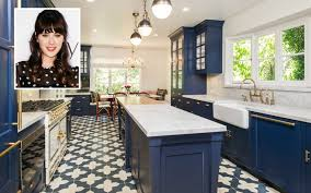 blue kitchen zooey deschanel s house for sale with blue kitchen hooked on houses