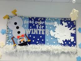 head over heels for winter classroom bulletin board fun snowman