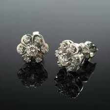 diamond earrings sale 14k white gold diamond earrings