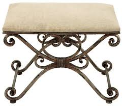 Vanity Stools And Benches Metal Stool Durable Furniture Addition Transitional Vanity
