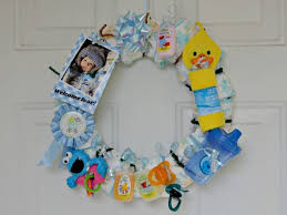dollar store baby shower make a wreath for a baby shower dollar store crafts