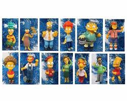 the simpsons ornaments 14 set homer bart