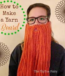 how to make a yarn beard the tiptoe fairy
