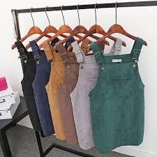 aliexpress com buy high quality women corduroy suspender dress
