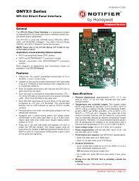 notifier dpi 232 user manual 2 pages