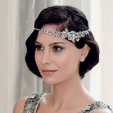 wedding hair bands twenties charm hair band wedding hair accessories glitzy secrets