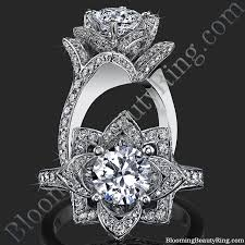 diamond ring cuts the large crimson flower diamond engagement ring bbr607