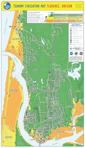 Oregon Beaches Map by Tsunami Evacuation Maps City Of Florence Oregon