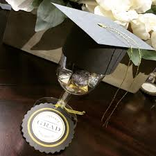 Pinterest Graduation Party Decorations by Graduation Party Favor Wine Glass With Cap On Top Also Filled