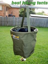OZtrail Canvas Shower Bucket Pocket Camping Hiking Camp Portable - Oztrail bunk beds