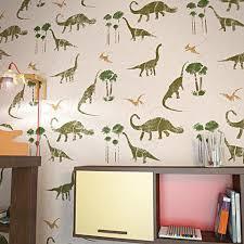 dinosaurs wall stencil for kids room decor nursery wall