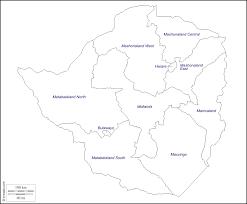 Black And White Map Zimbabwe Free Map Free Blank Map Free Outline Map Free Base
