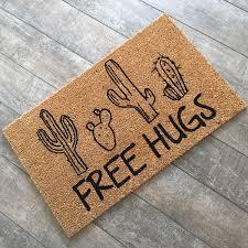 halloween doormat merry u0026 bright holiday doormat custom welcome mat housewarming