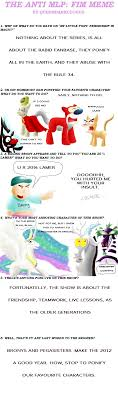Mlp Fim Meme - anti mlp fim meme done by edd xsagi on deviantart