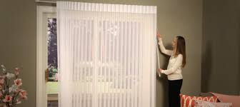 Vertical Blinds With Sheers Combination Wand Cord Control Hunter Douglas Canada