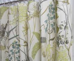neutral window curtains botanical inspired drapery panels