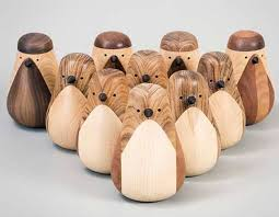 to refuse adorable bird ornaments from recycled timber