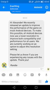 android resolution low resolution problem on android reply from everwing everwing