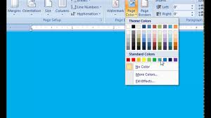 microsoft word 2007 how to change the page color of your document