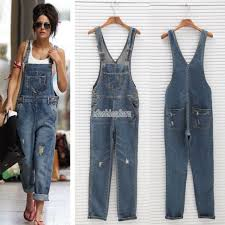 jean one jumpsuit denim overall suspender jean womens trousers ripped