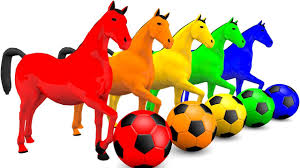 video for kids youtube kidsfuntv learn colors for kids with horse soccer ball u0026 paint water tube