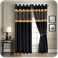Black Gold Curtains Black Gold Jacquard Lined Curtains 90 X 90 Co Uk