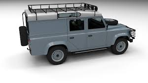 land rover 110 land rover defender 110 utility station wagon w interior 3d model