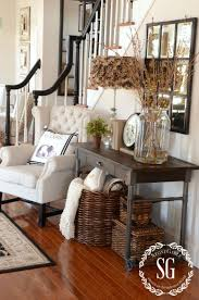 love dark wood accents on white with medium wood to soften the