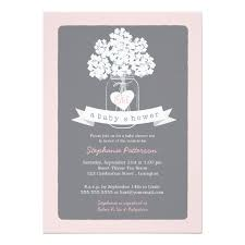 pink and grey baby shower sweet jar pink gray baby shower invitation zazzle