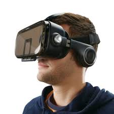 vr headset with built in headphones at brookstone u2014buy now