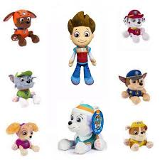 children gift cartoon figures stuffed plush toys paw patrol doll