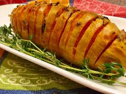 hasselback sweet potatoes a splendid side dish for thanksgiving