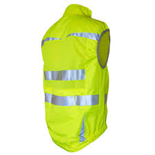 mens fluorescent cycling jacket j2x fitness full zip high visibility reflective cycling gilet vest