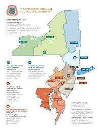 Map Of Tri State Area Region Maps Northeast Regional Council Of Carpenters