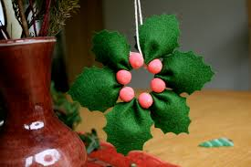 christmas crafts felt poinsettia stitch and purl