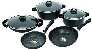 cuisine en batterie de cuisine schumann professionnel sba2201400 black rock lot de 14 pièces