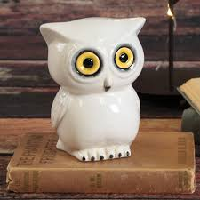 Owl Canisters by Wide Eyed White Owl Bank Ilovetocreate
