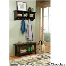 fair haven storage coat hook and bench with shelf set free