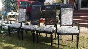 Refinish Dining Chairs Refinished Thomasville Dining Chairs Sold Nerdy