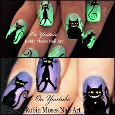 robin moses nail art spider nails easy 3d halloween 2017 glow in
