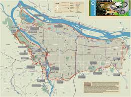 Portland Max Map by Visit By Bike Gresham Area Chamber Of Commerce And Visitors