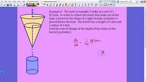 10 20 2014 related rates word problems 2 cones youtube