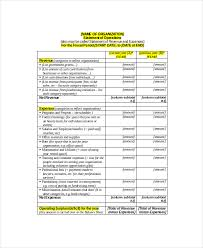 financial statement template 9 free word excel pdf documents