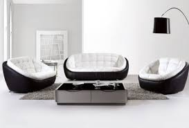 Black And White Sectional Sofa Free Shipping Modern Black And White Creative Genuine Leather Sofa