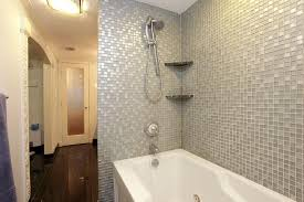 Bathroom With Bath And Shower Bathroom Shower Tub Tile Ideas White Wooden Sliding Glass Window