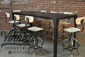 Metal Conference Table Hand Crafted Simple Metal Conference Table By Vintage Industrial