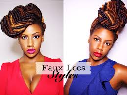 loc hairstyles with shunt faux locs styles braided bun and fishtail braid updo youtube