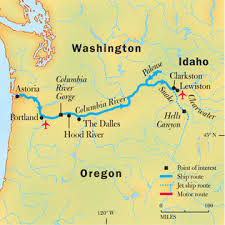 america map with rivers columbia snake river cruises the lewis clark tour national