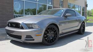 Black Mustang 2014 Kc Trends Showcase Giovanna Shaki Matte Black Wheels Mounted